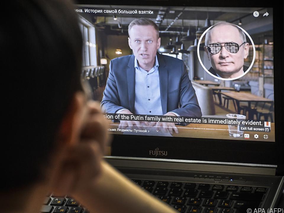 Das Palast-Video wurde von Nawalnys Stiftung veröffentlicht