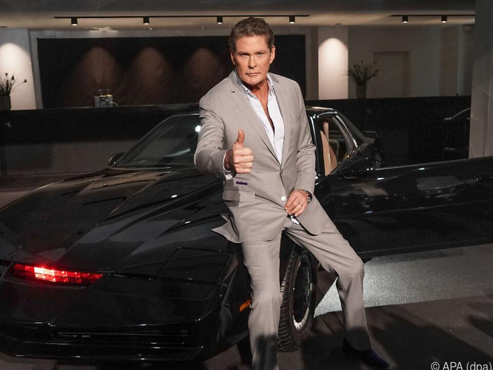 David Hasselhoff und sein legendäres Auto K.I.T.T.