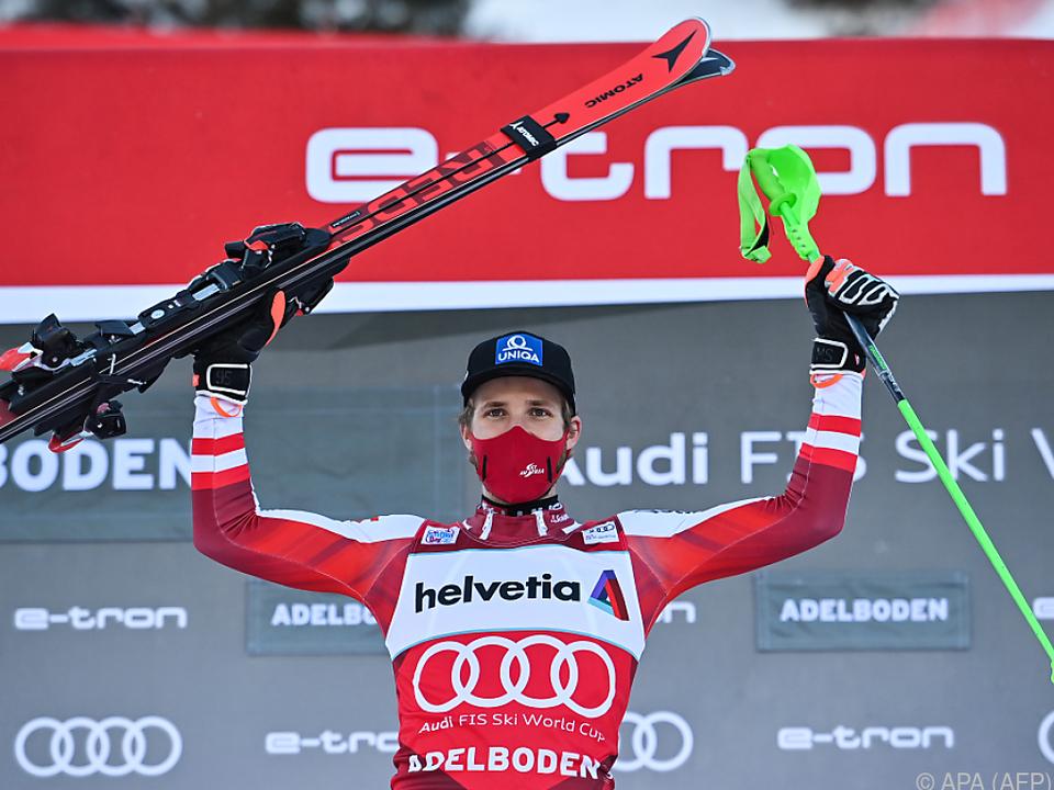 Marco Schwarz trug sich in die Slalom-Siegerliste ein