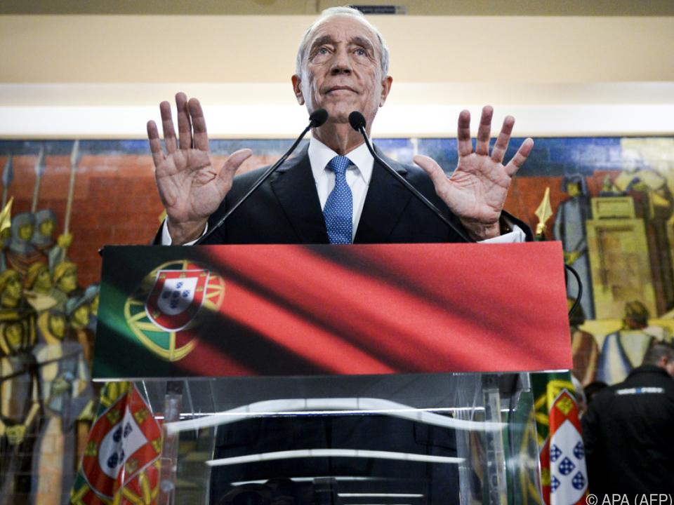 Der Konservative bleibt wohl Staatspräsident Portugals