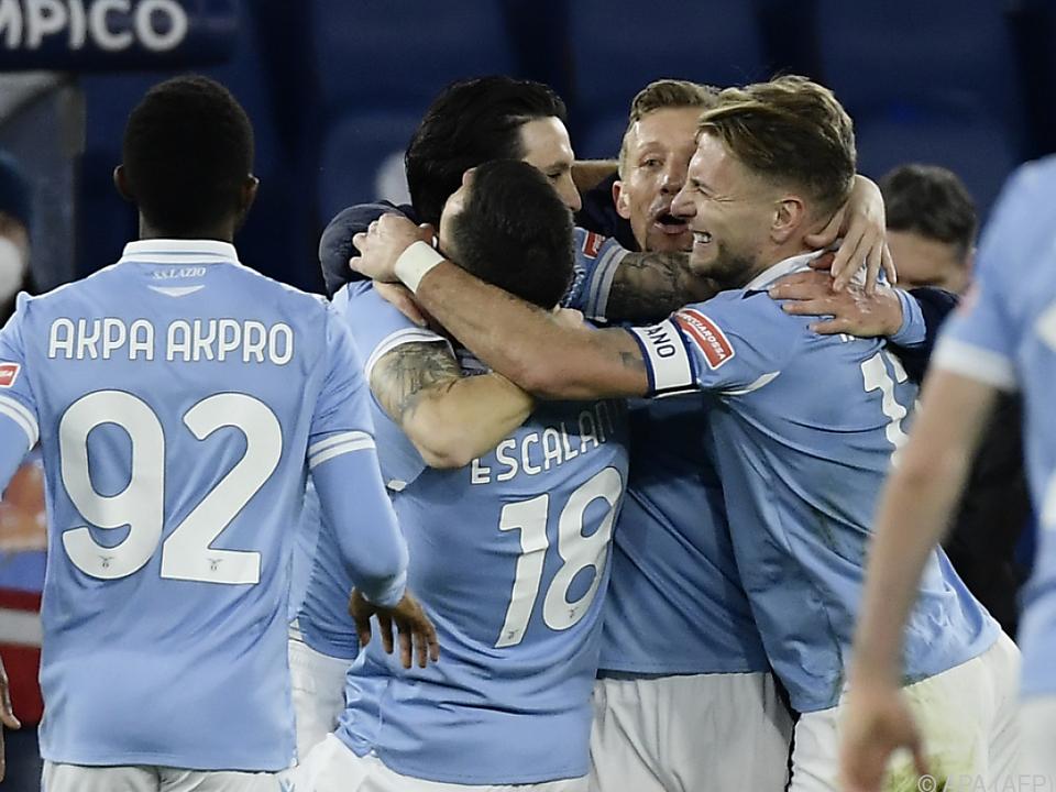 Die Lazio-Kicker kamen aus dem Feiern nicht mehr heraus