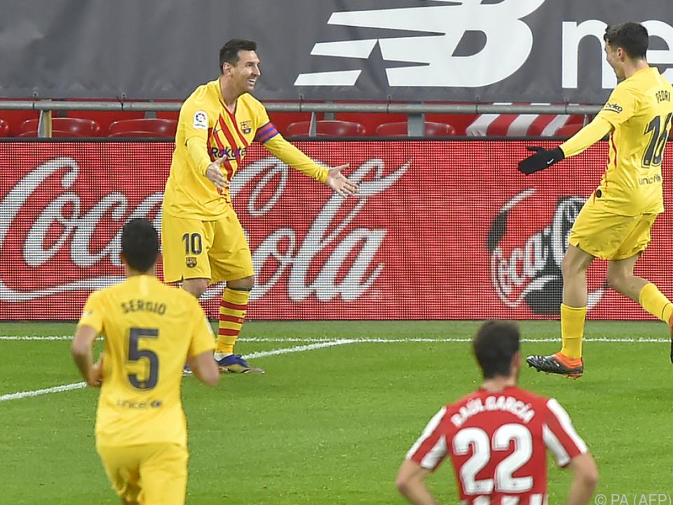 Messi erzielte Doppelpack gegen Bilbao