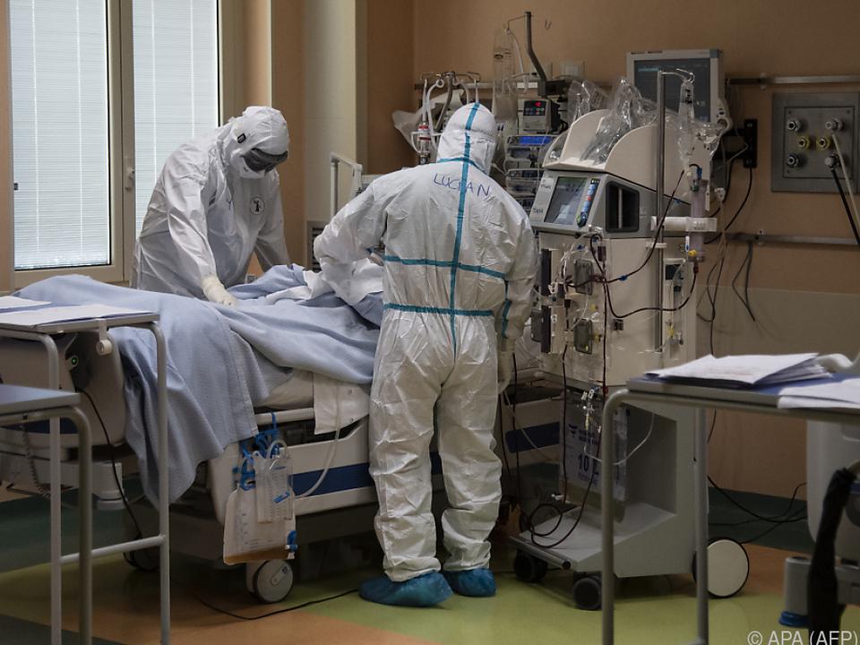Eine Intensivstation für Covid-19-Patienten in Turin
