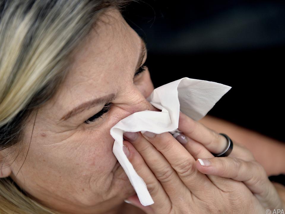 Erstmals seit Jahrzehnten keine Influenza-Fälle in Österreich grippe erkältung krank winter taschentuch