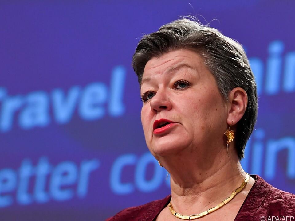 EU-Innenkommissarin Ylva Johansson zu Reisebeschränkungen