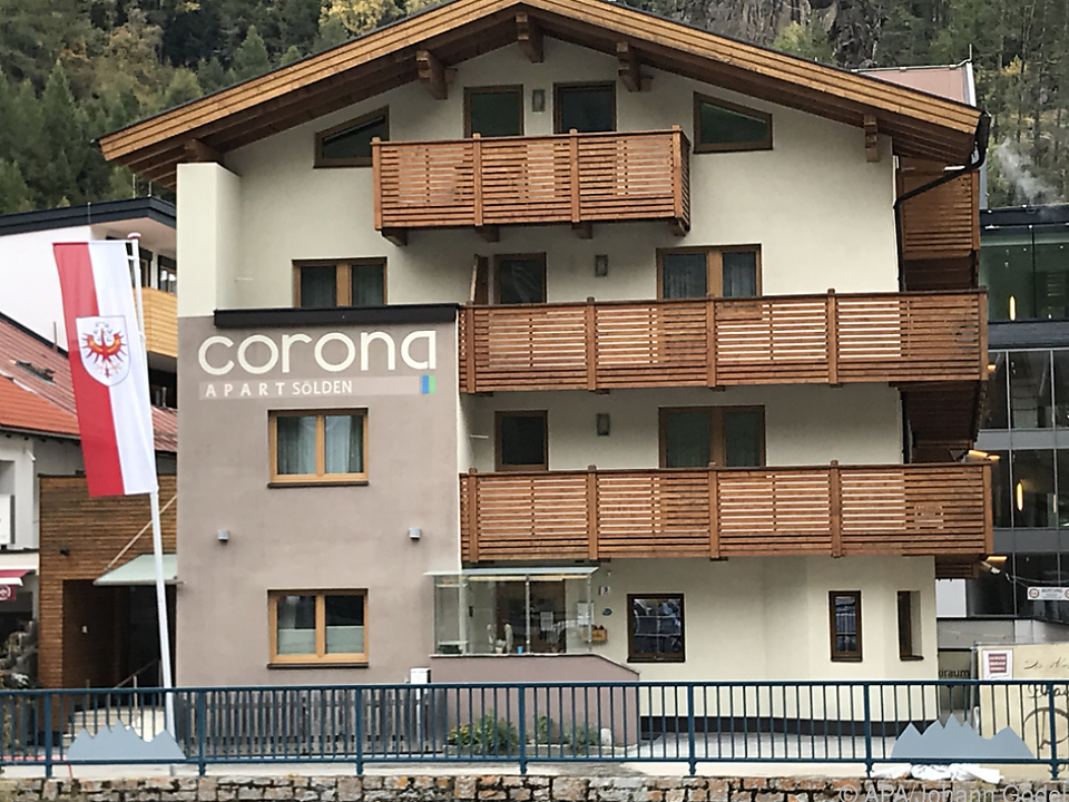 Hotel im Tiroler Skiort Sölden