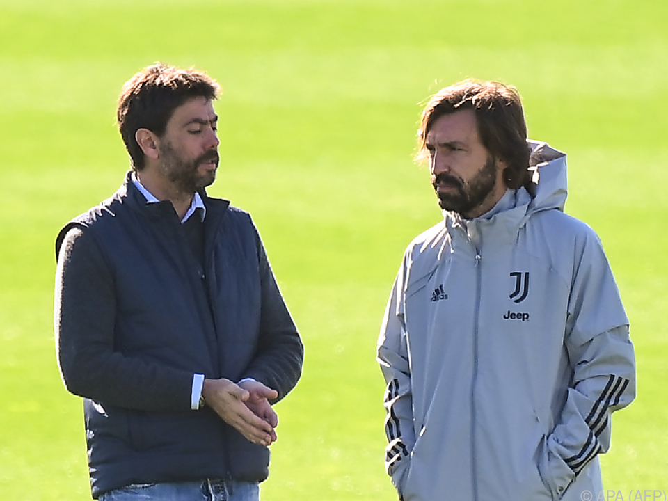 Juve-Boss Agnelli mit seinem Trainer Pirlo