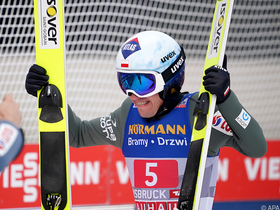 Kamil Stoch jubelt in Innsbruck