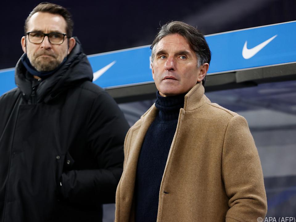 Labbadia (r.) und Preetz (l.) müssen die Hertha verlassen