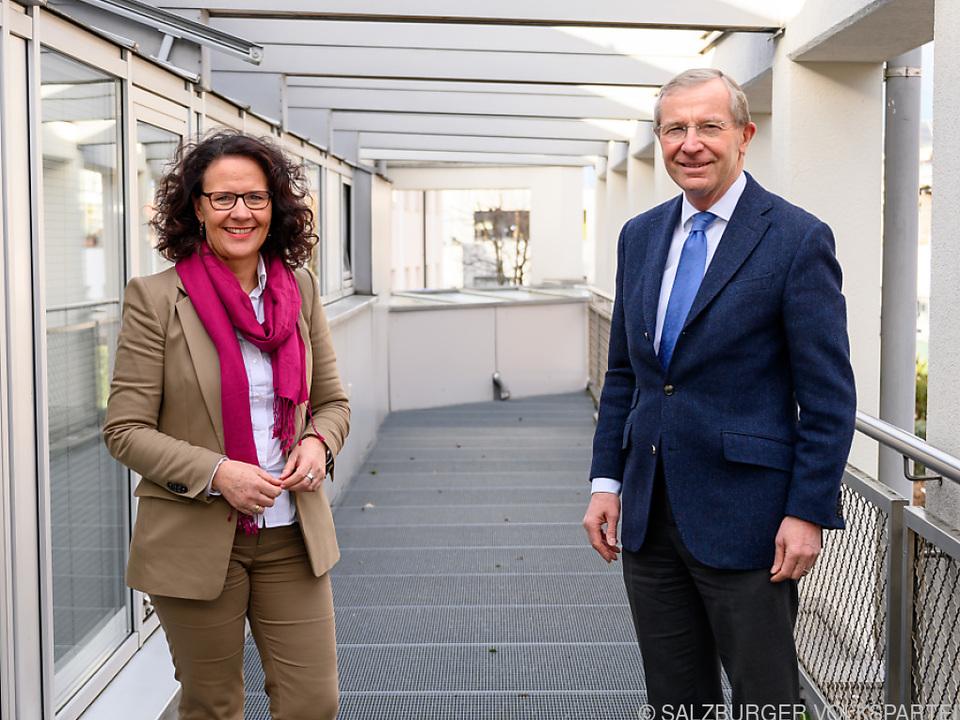 Die designierte Landesrätin Daniela Gutschi mit LH Wilfried Haslauer