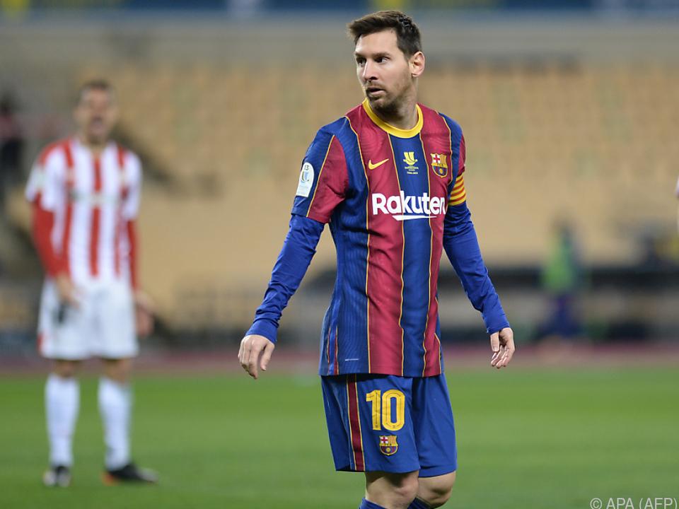 Lionel Messi steht bei Barca vor dem Abschied