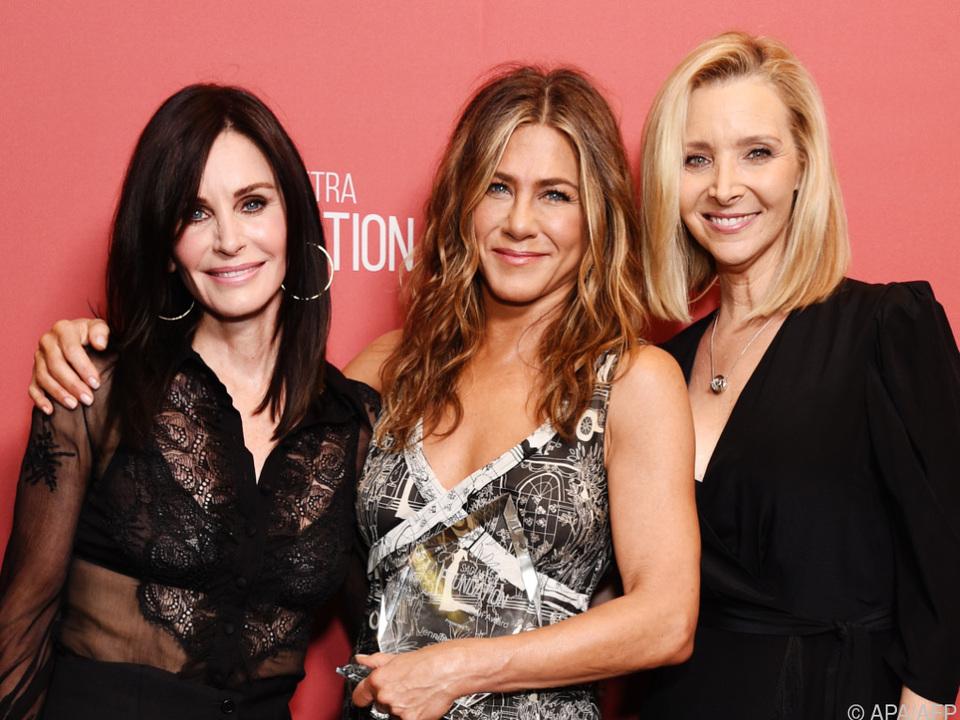 Lisa Kudrow (r.) mit Jennifer Aniston und Courteney Cox (Archivbild)