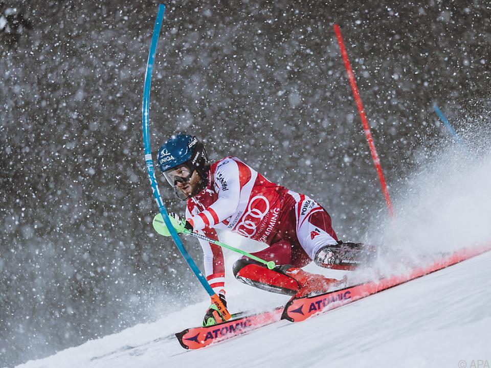 Marco Schwarz gewann den Nachtslalom in Schladming