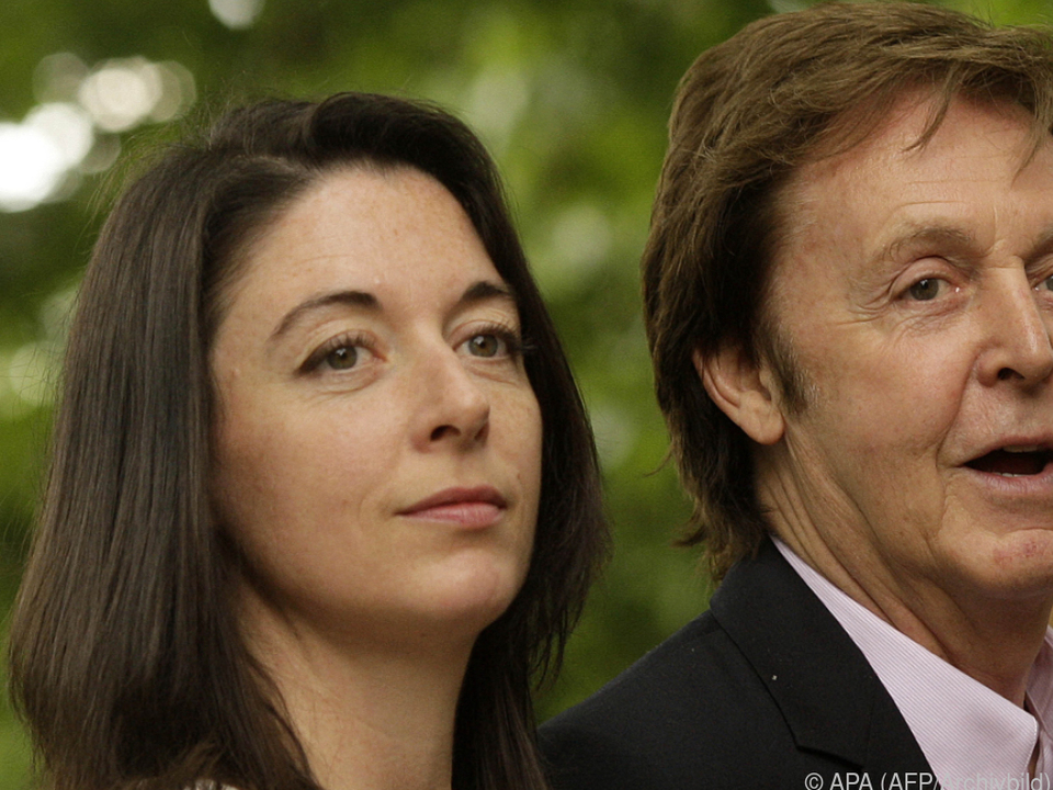 Mary McCartney mit ihrem Vater Paul