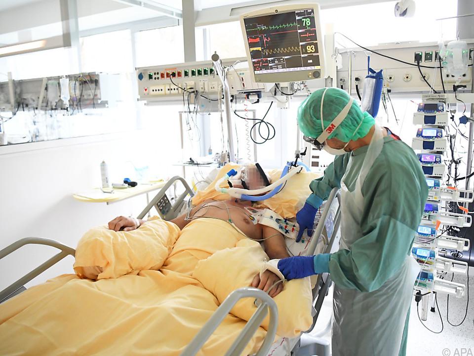 Ein Covid-19-Patient auf der Intensivstation