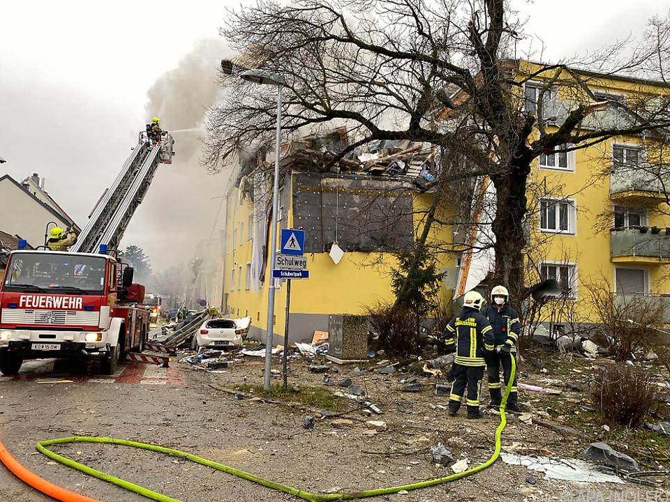 Mehrparteienhaus in Langenzersdorf nach Explosion