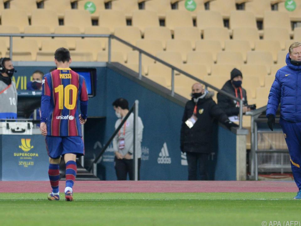 Messi trabte nach Roter Karte vom Feld