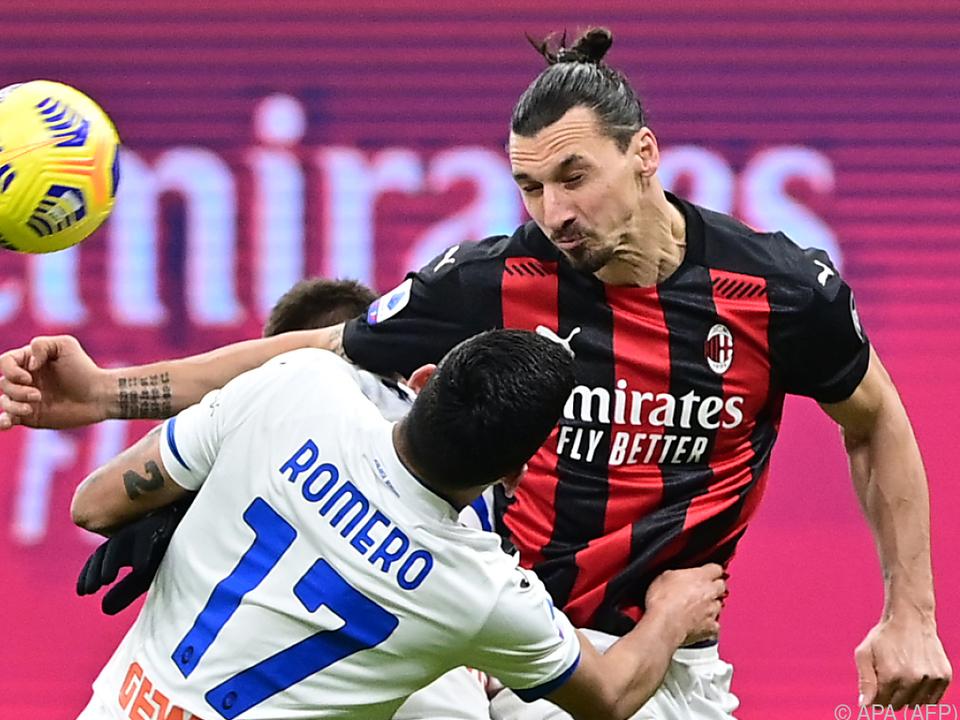 Milan-Star Ibrahimovic blieb gegen Atalanta ohne Torerfolg