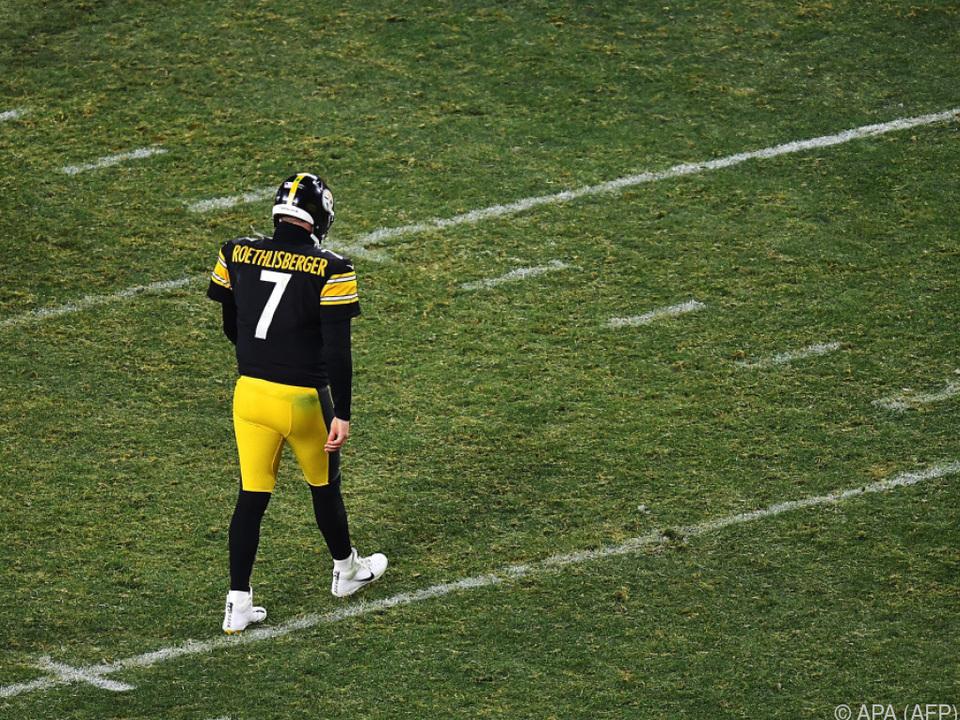 Ben Roethlisberger nach dem Out der Steelers bitter enttäuscht.