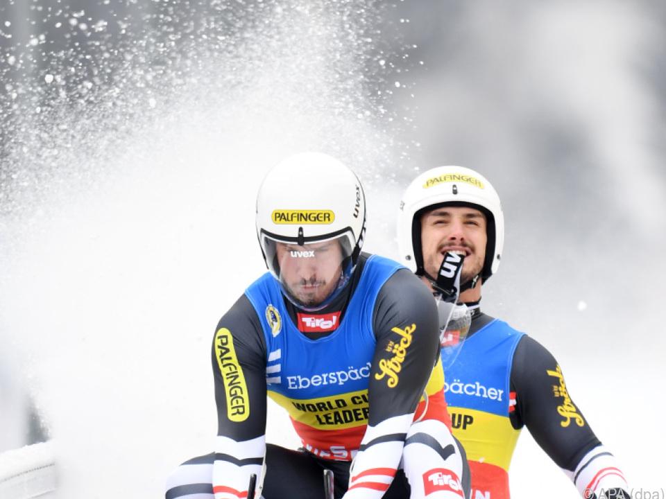Thomas Steu/Lorenz Koller landeten in Sigulda auf EM-Rang fünf.