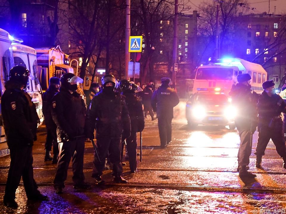 Polizei sperrt Straße nahe Nawalny-Haftanstalt