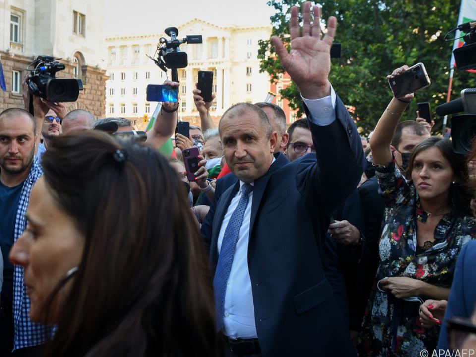 Präsident Radew hatte die Proteste unterstützt