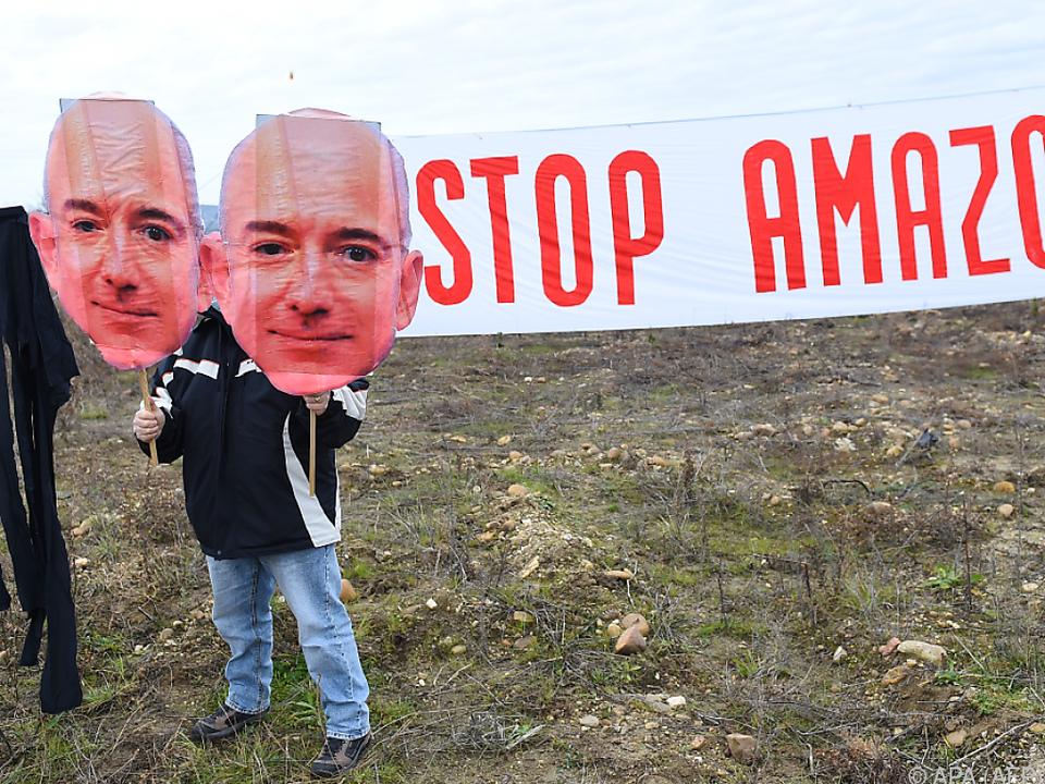 Protest gegen geplantes Amazon-Lager in Südfrankreich