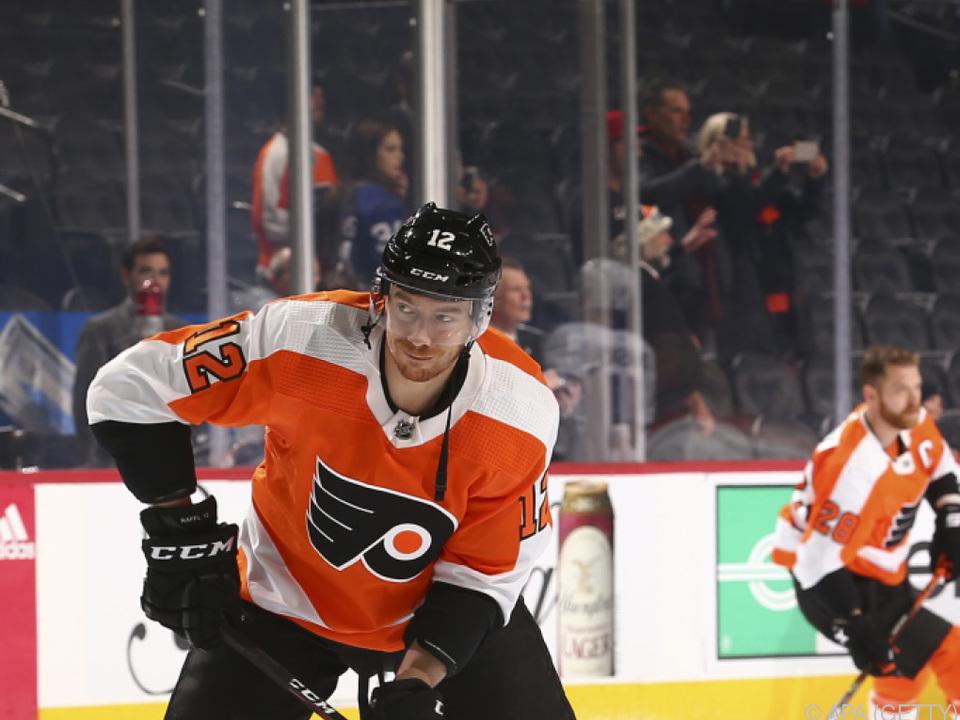 Michael Raffl geht in seine 8. NHL-Saison mit den Philadelphia Flyers