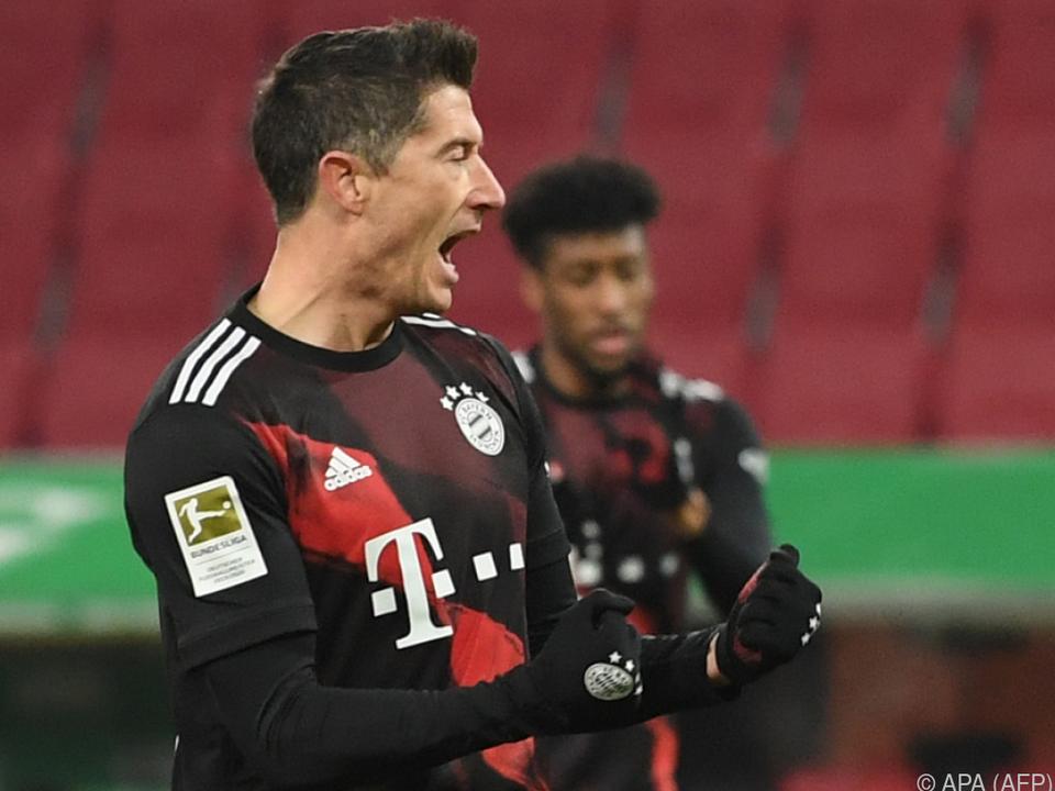 Richtete es für die Bayern per Elfer: Robert Lewandowski