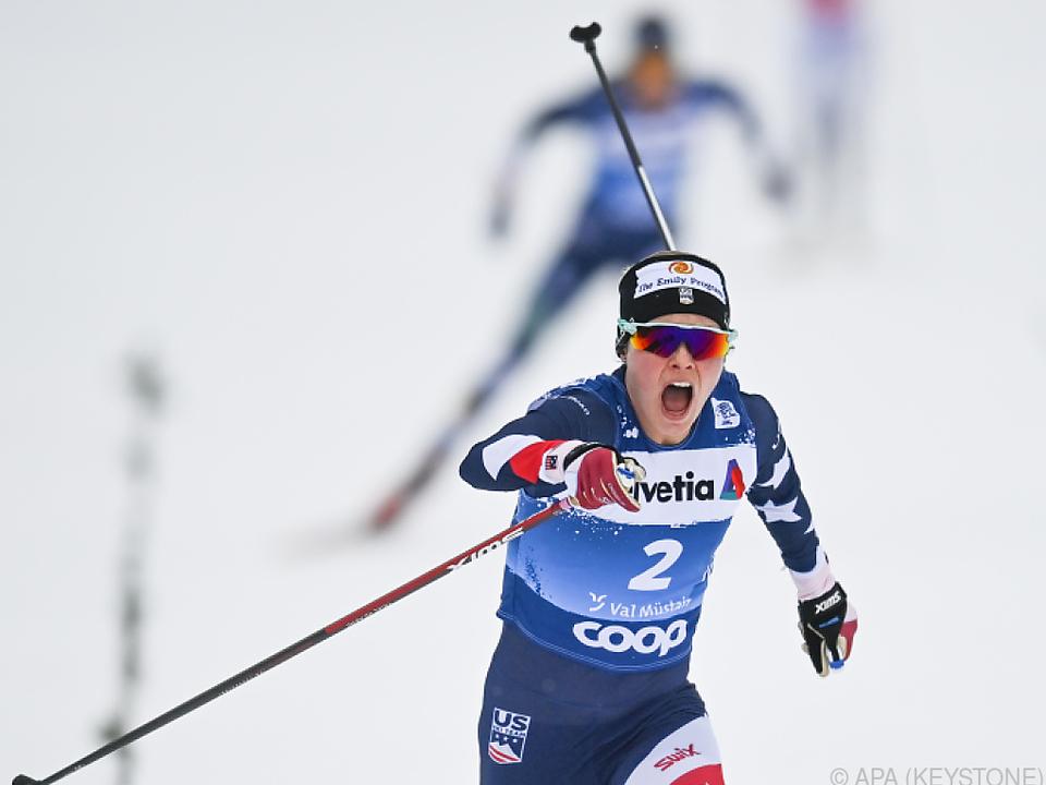 Jessica Diggins gewann nach dem Val Müstair auch in Toblach