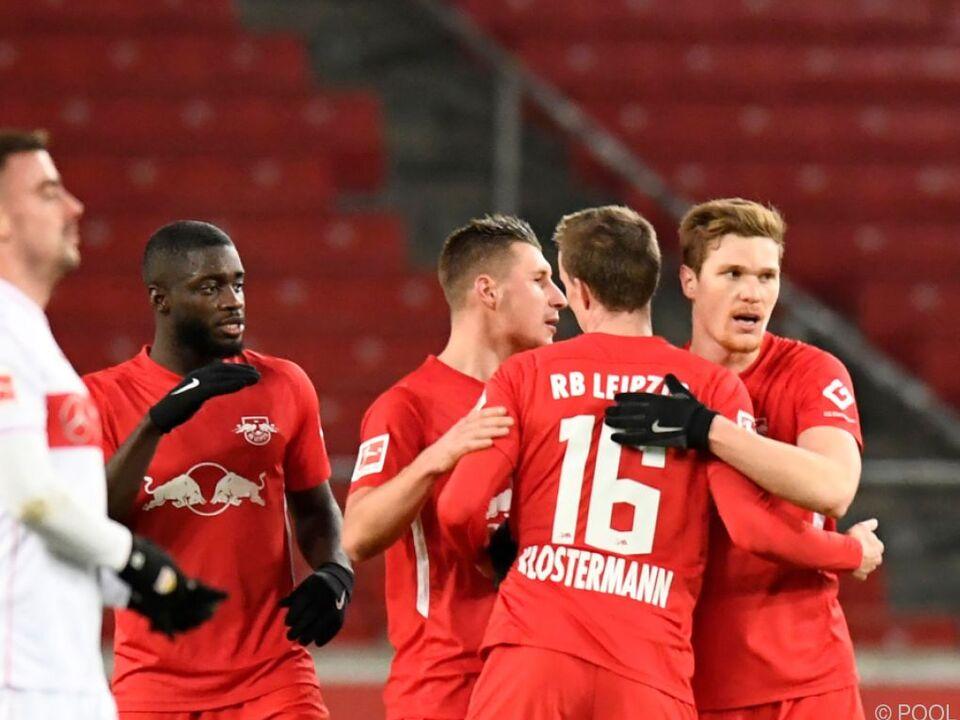 RB Leipzig übernimmt mit Sieg in Stuttgart Bundesliga-Tabellenspitze