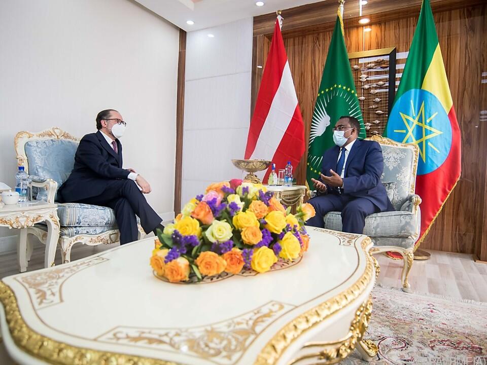 Schallenberg traf seinen Amtskollegen und die äthiopische Präsidentin