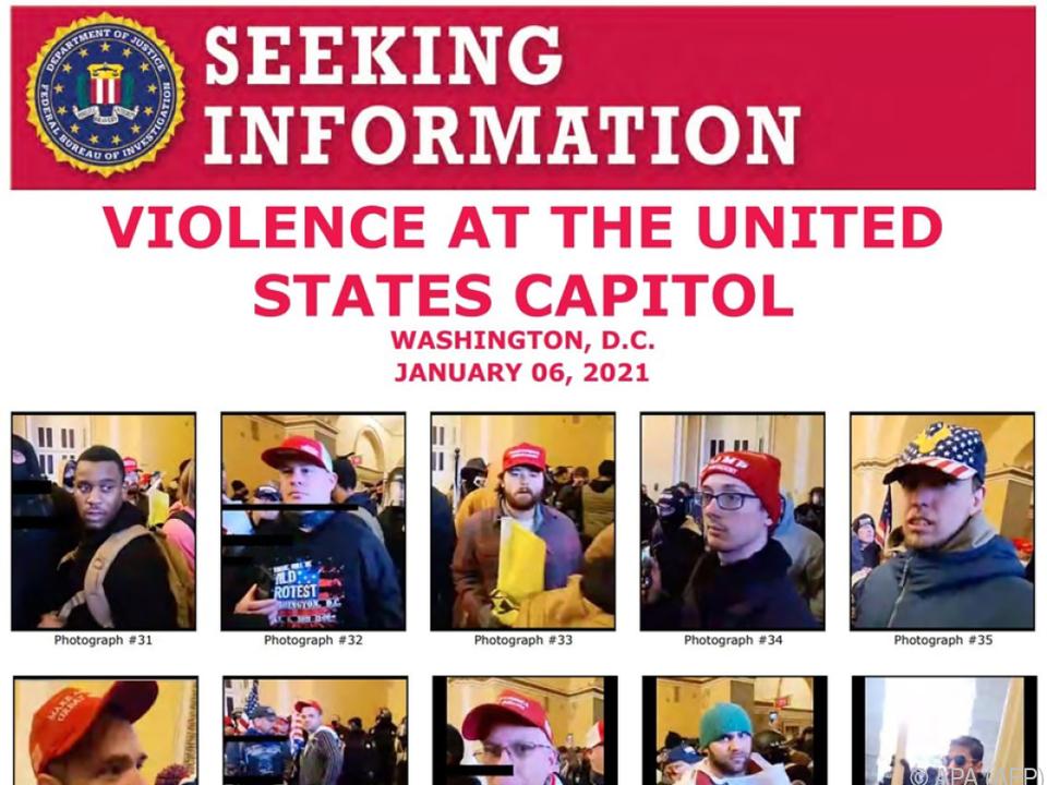 Fahdungsaufruf der US-Bundespolizei