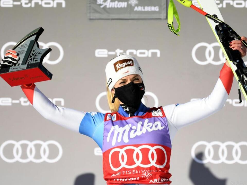 Lara Gut-Behrami gewann Super-G in St. Anton