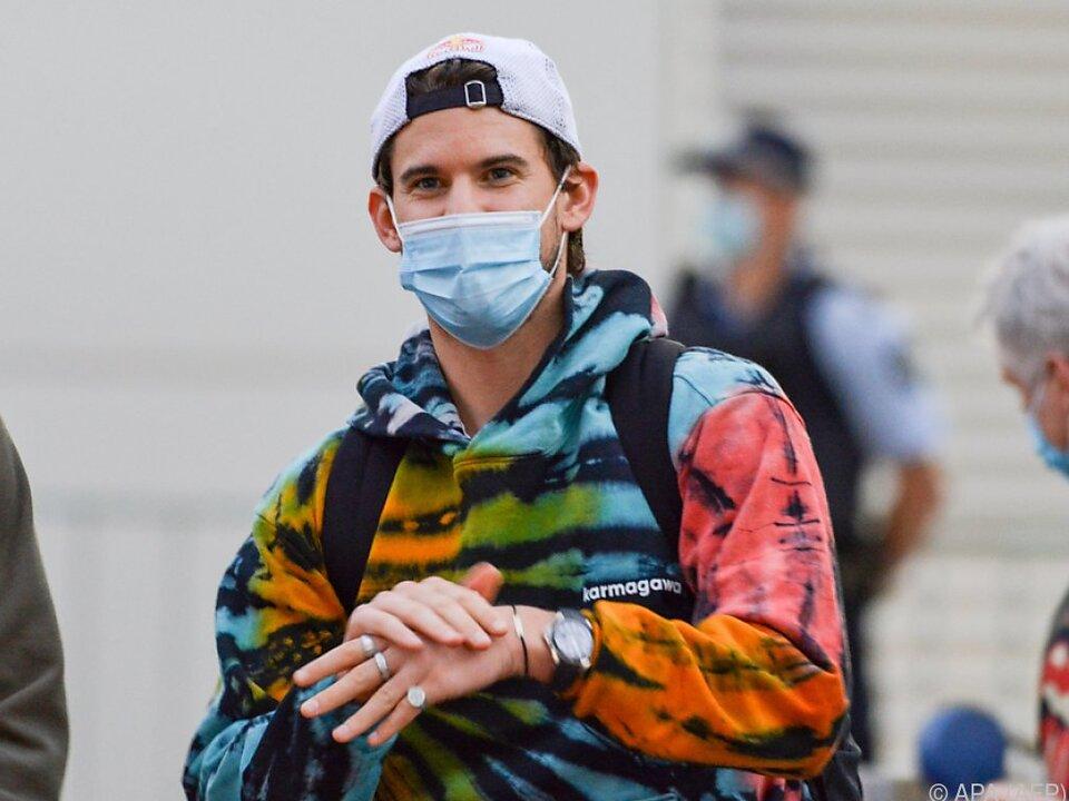 Thiem hofft in Australien nach Quarantäne auf eine Zeit ohne Masken