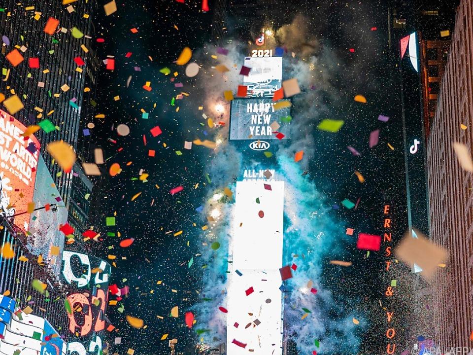 Times Square: Was wie üblich wirkt, hatte diesmal kein Publikum