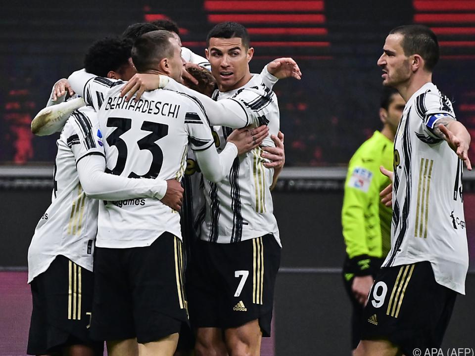 Juventus bejubelt Sieg über Milan