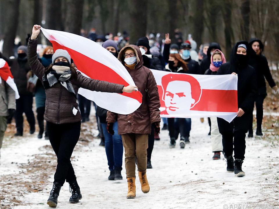 Proteste in Weißrussland im Dezember