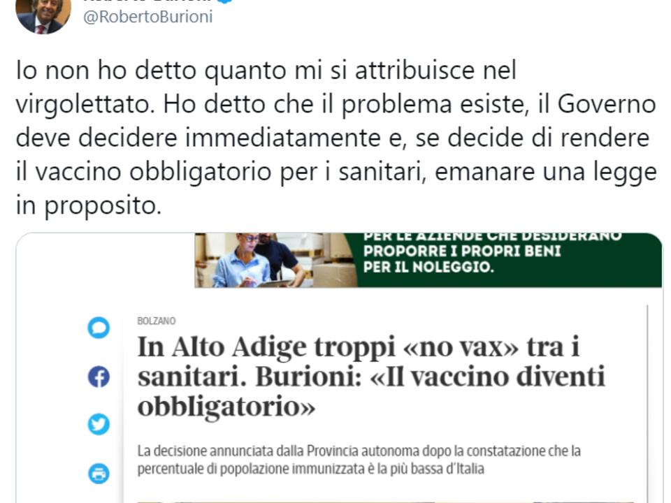 Twitter Roberto Burioni