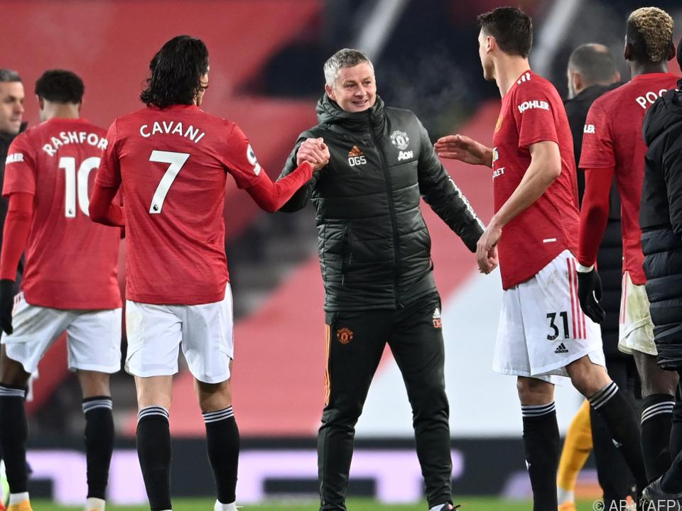 United-Trainer Solskjaer darf sich derzeit freuen