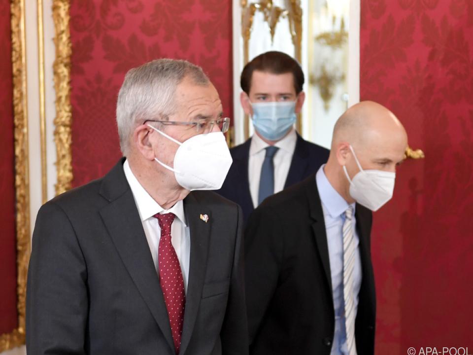 Angelobung von Kocher durch Bundespräsident Van der Bellen