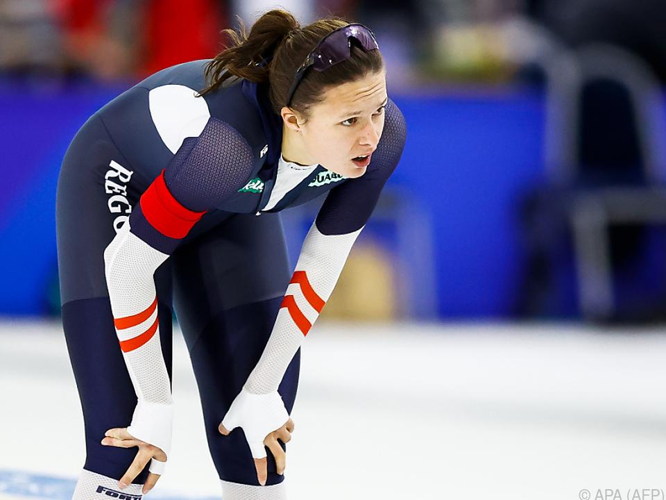 Vanessa Herzog kam über 500 m nach wenigen Metern zu Sturz