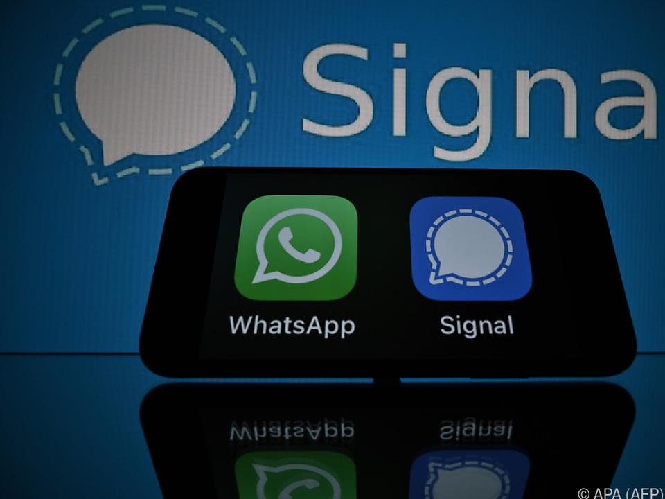 Viele Teilnehmer von WhatsApp wanderten zu Signal