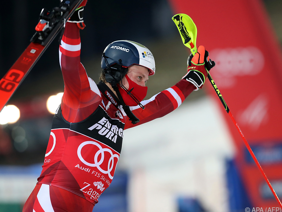 Feller schnappte sich Rotes Trikot für die Führung im Slalom-Weltcup