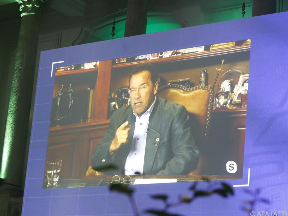 Schwarzenegger meldete sich per Video-Botschaft (Archivbild)