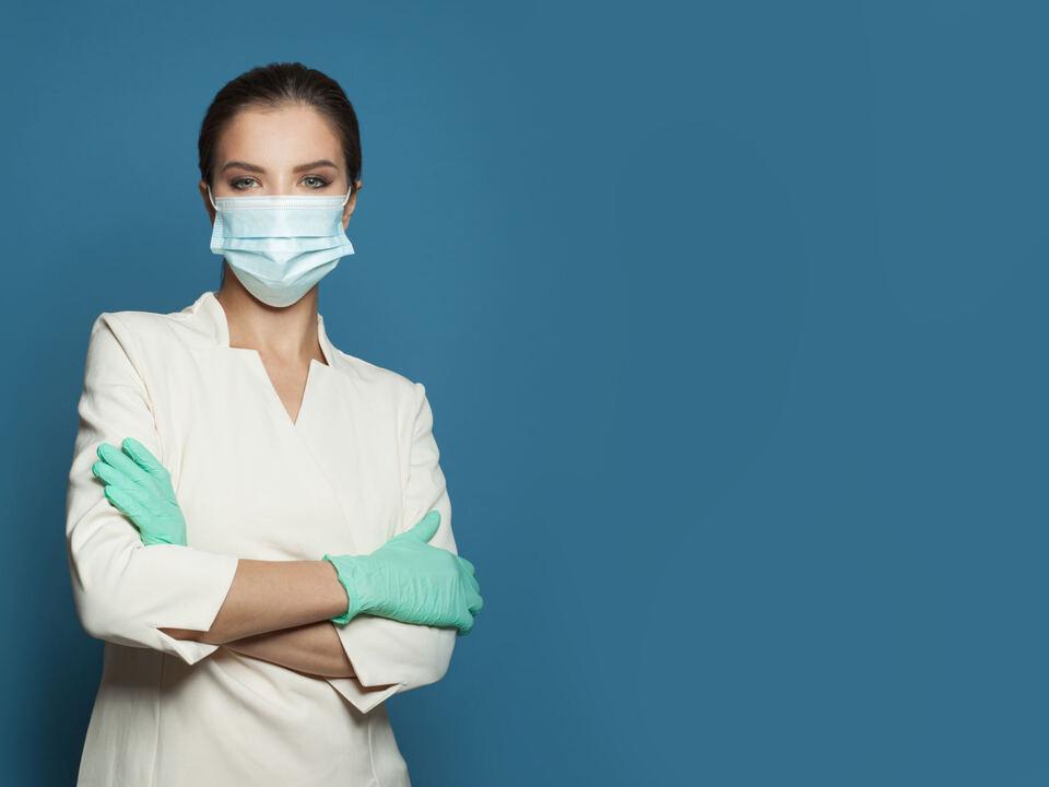 Arzt Corona Mundschutz Maske