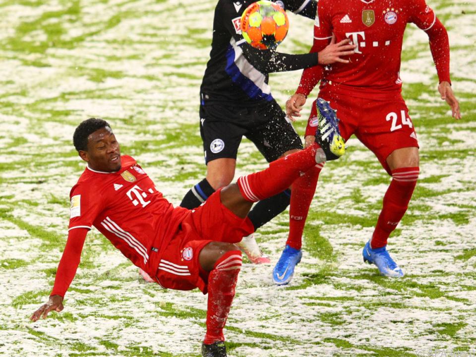 Alaba rutschte mit den Bayern gegen Bielefeld aus
