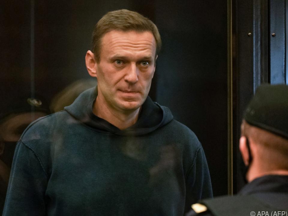 Alexej Nawalny vor einem Moskauer Gericht