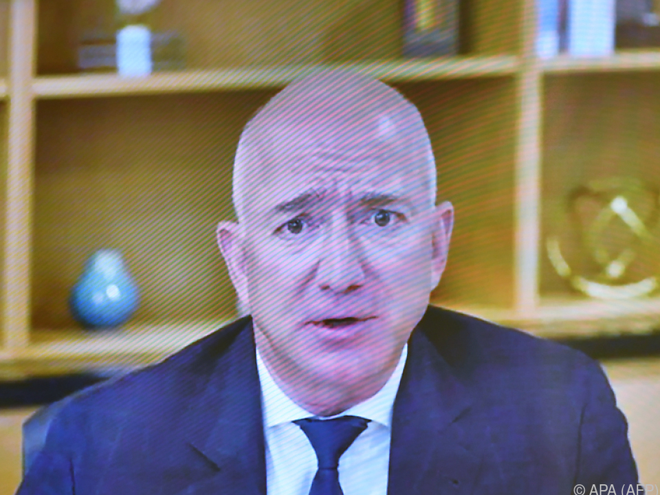 Amazon-Chef Bezos bei einer US-Kongressanhörung im Juli 2020