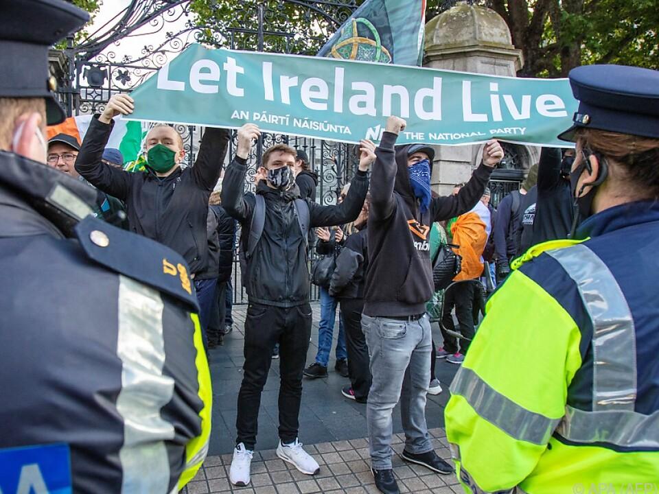 Anti-Lockdown-Proteste in Dublin (Archivbild vom Oktober)